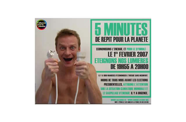 Mobilisation citoyenne : «5 minutes de répit pour la planète»