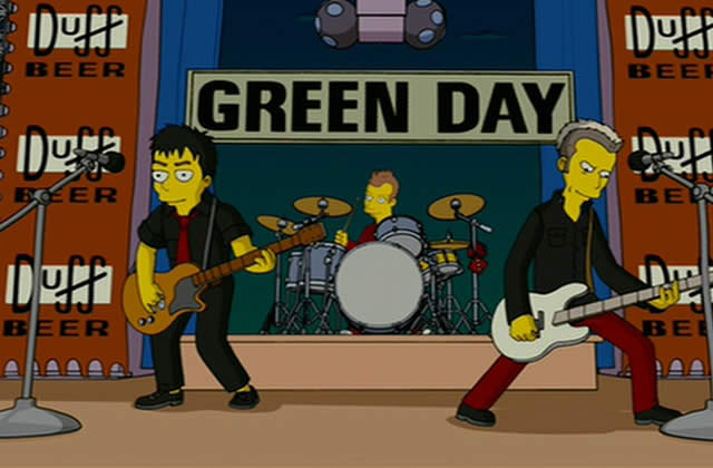 Green Day chez les Simpsons ?