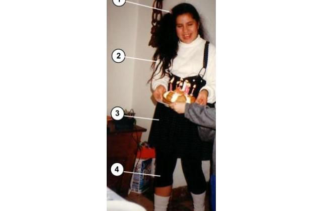 Leggings + chaussettes + jupe à bretelles = Madonnaze