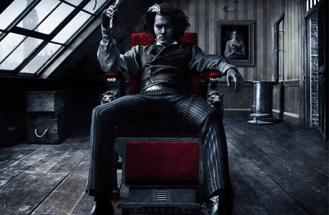L'affiche teaser de Sweeney Todd, le prochain Tim Burton
