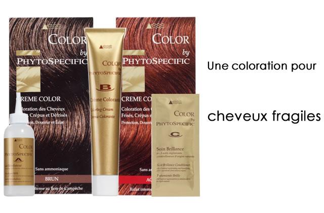 Crème Color de Phytospecific, la coloration des cheveux fragiles