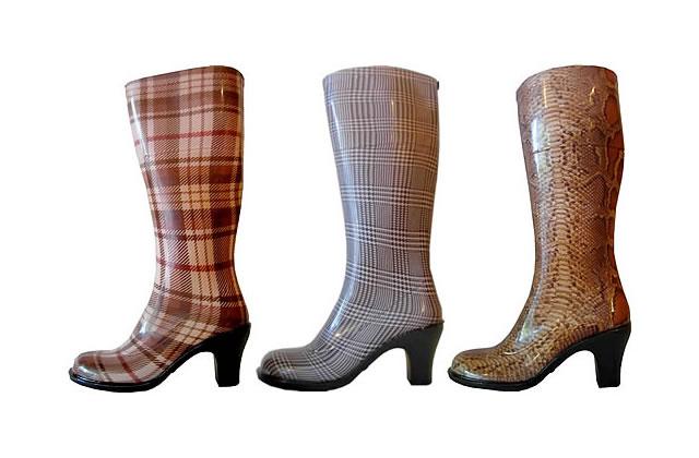 Les bottes de pluie à talon…