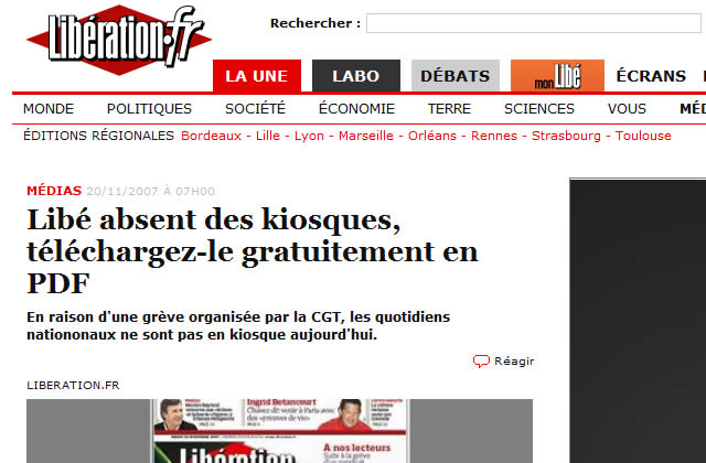 Grève : peu de journaux en kiosque ce matin