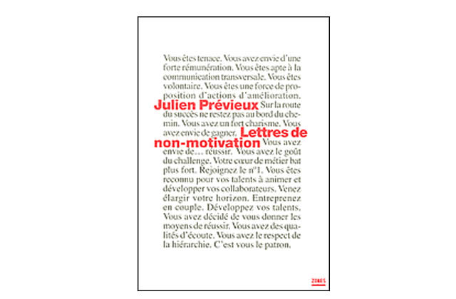 Idée cadeau – Lettres de non-motivation (livre)