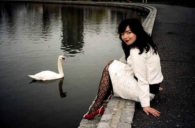 Aéroport + baston + journaliste = Björk évidemment !