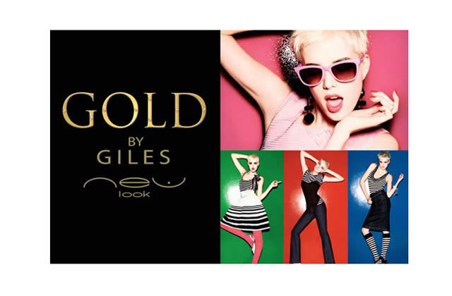 Agyness Deyn en Gold by Giles chez New Look