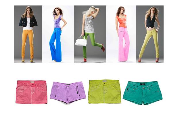 Des jeans très colorés pour l'été