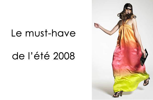Robe longue : le must-have de l'été 2008