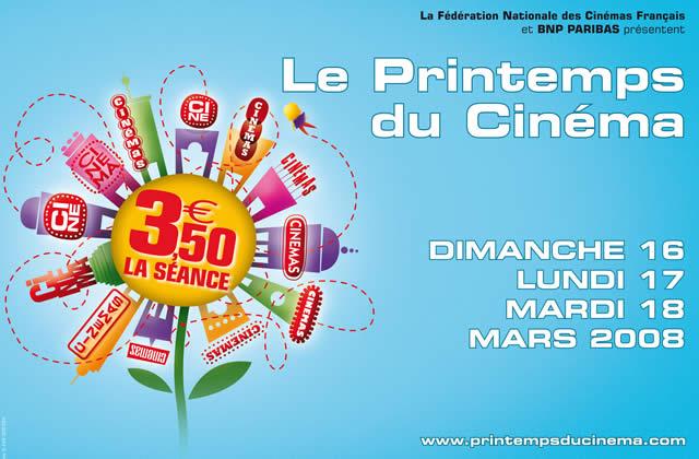 Le Printemps du Cinéma 2008 : du 16 au 18 mars 2008