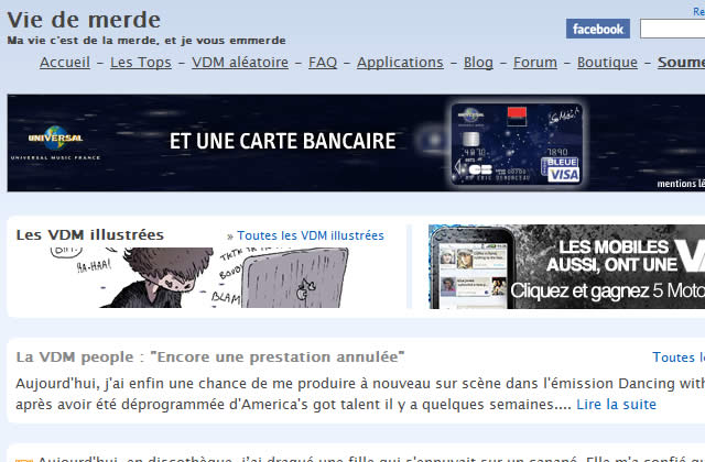 viedemerde.fr : partage ta vie de merde