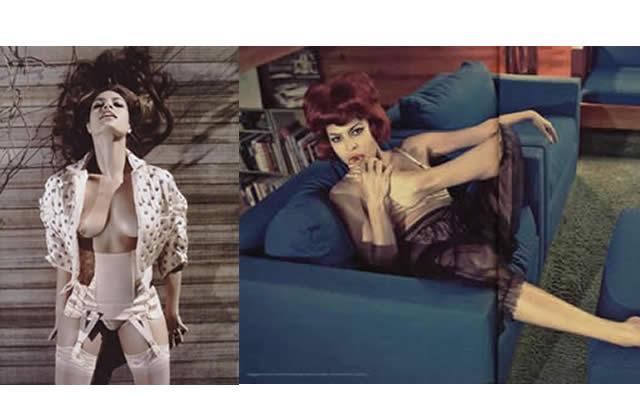 Eva Mendes : Sexy Lady dans Vogue Italie