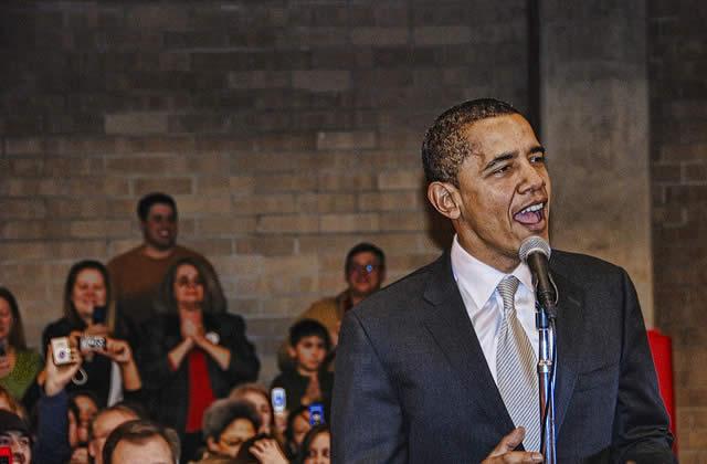 Barack Obama, candidat démocrate à la présidence US
