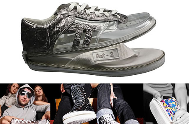 Nat-2, la chaussure 2 en 1