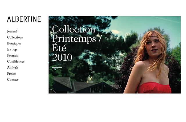 Albertine vend ses maillots de bain en ligne