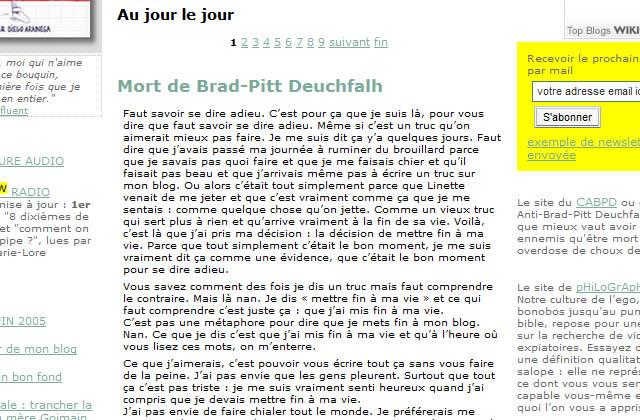 Brad-Pitt Deuchfalh est mort