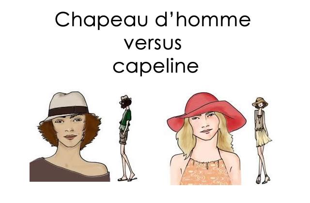 Chapeau d'homme versus capeline