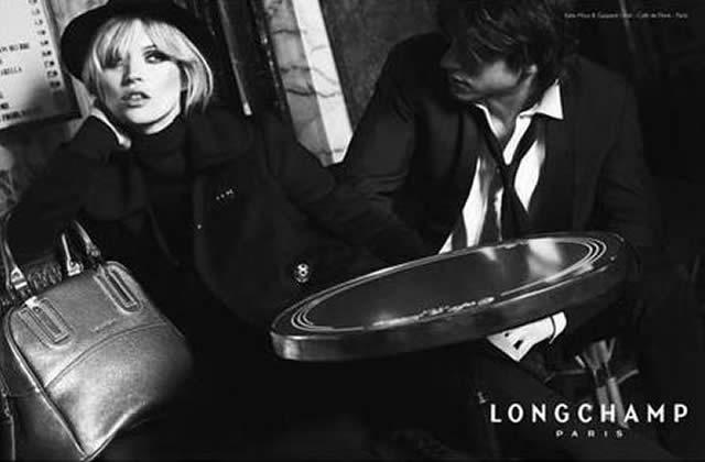 [MàJ] Kate Moss et Gaspard Ulliel chez Longchamp