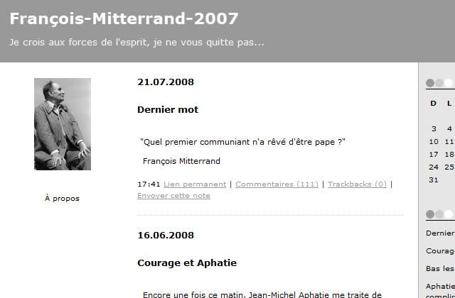 [MAJ] Bruno Roger-Petit est l'auteur du blog de François Mitterrand
