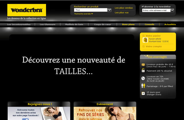 Wonderbra se met au e-shopping