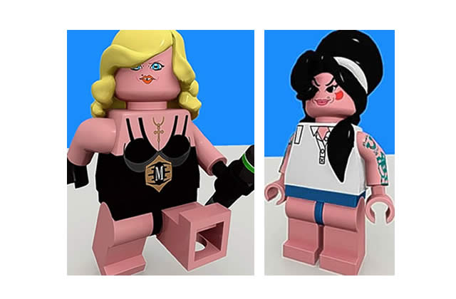 Madonna et Amy Winehouse version Lego