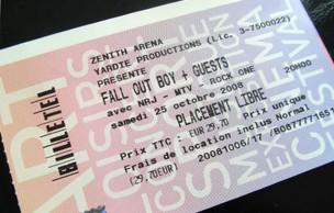 Concert des Fall Out Boy (Lille, 25 octobre 2008)