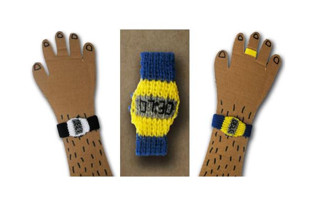 La montre tricotée