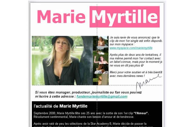 Marie Myrtille, le buzz pied-de-nez
