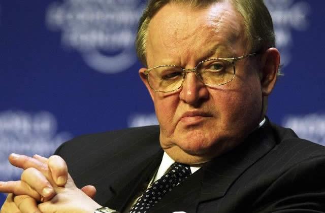 Martti Ahtisaari, prix Nobel de la Paix 2008