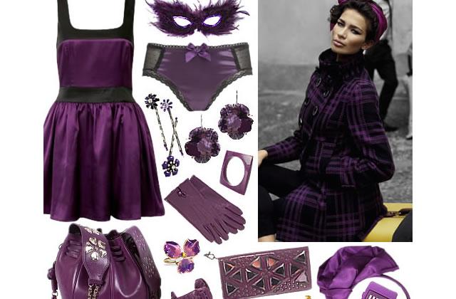 Violet & violine, couleurs must de l'hiver 2008-09