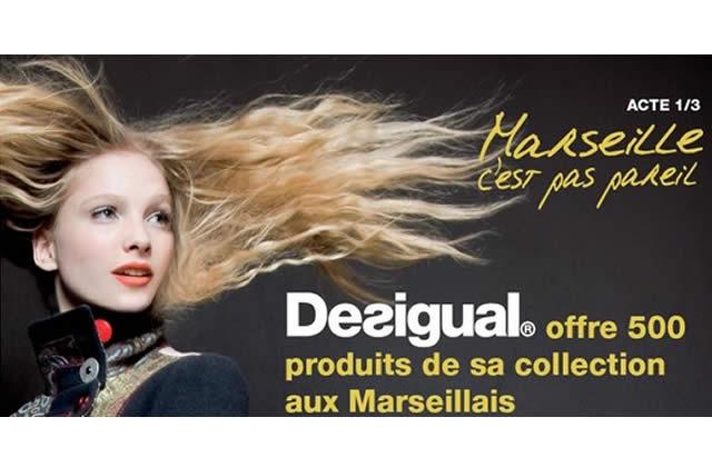 Desigual offre 500 articles de sa collection aux Marseillais(es)