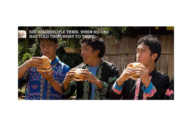 Burger King fait goûter le Big Mac (et son Whooper) aux Whooper Virgins