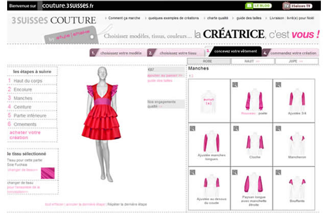 3 suisses couture cr e ta robe sur le web. Black Bedroom Furniture Sets. Home Design Ideas