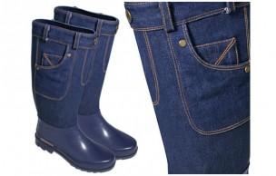 Des bottes de pluie façon blue-jeans