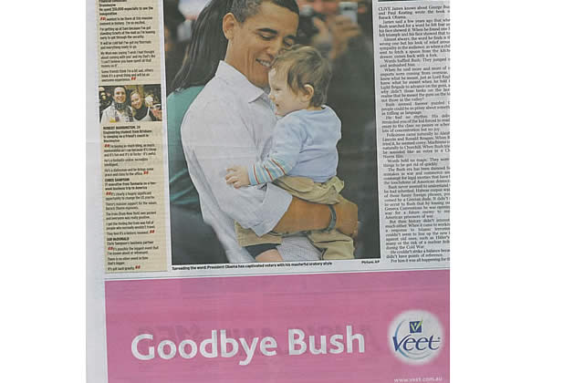 L'adieu à Bush, par Veet