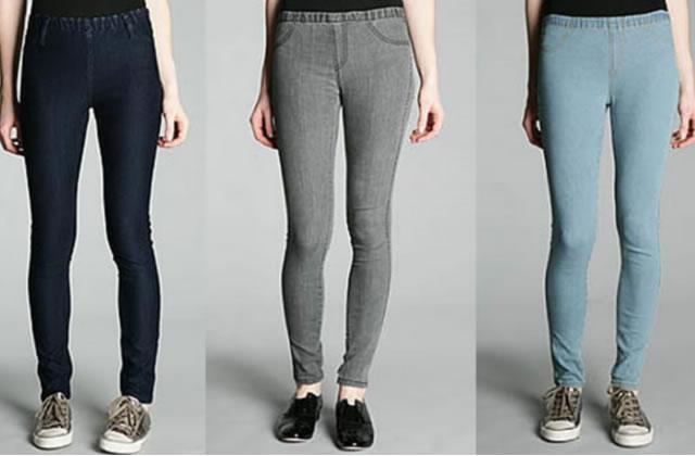 Leggings denim ou les jeans élastiques qui s'enfilent