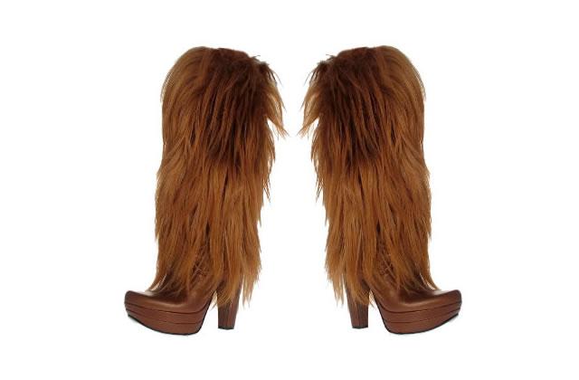 Les bottes à poils longs