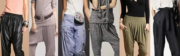 Sarouel, pantalon «harem» and co