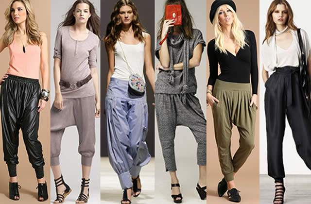 Sarouel, pantalon « harem » and co