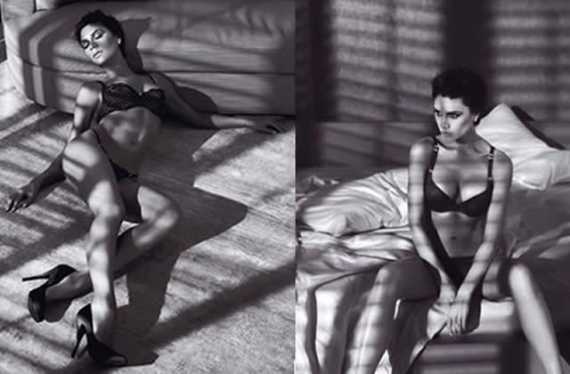 Victoria Beckham mannequin lingerie pour Armani