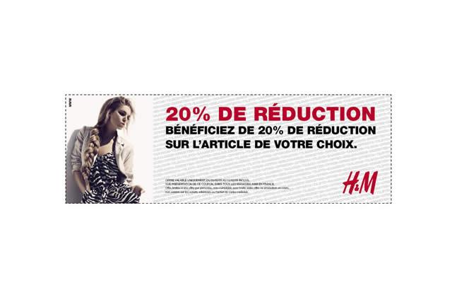 Bon Plan Mode : une réduction de 20% sur un article H&M
