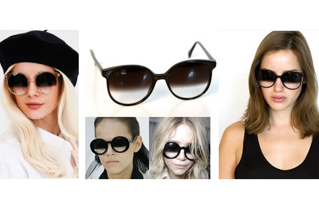 Des lunettes à verres bicolores