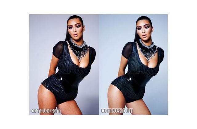 Kim Kardashian avant / après photoshop