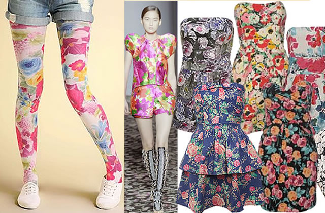 Collants, robes et vestes à fleurs : le printemps all over