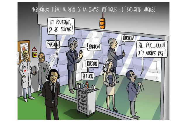 Dessin d'actu – L'excusite aïgue