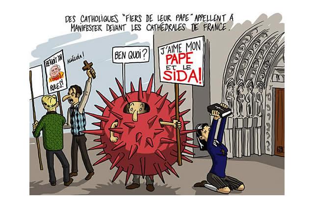 Le Dessin d'actu de Djib : les catholiques «fiers de leur Pape»