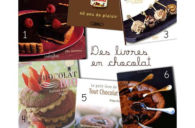 Séléction Livres de cuisine, dossier chocolat