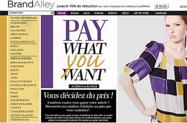 Bon Plan Mode : tu décides du prix sur Brandalley.fr