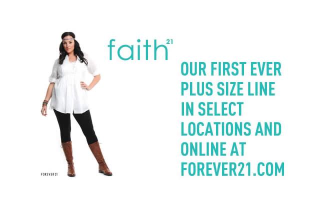 Forever 21 lance Faith 21, une ligne pour les rondes