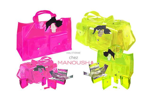 Ines Etienne & Manoush : des sacs en toute transparence !