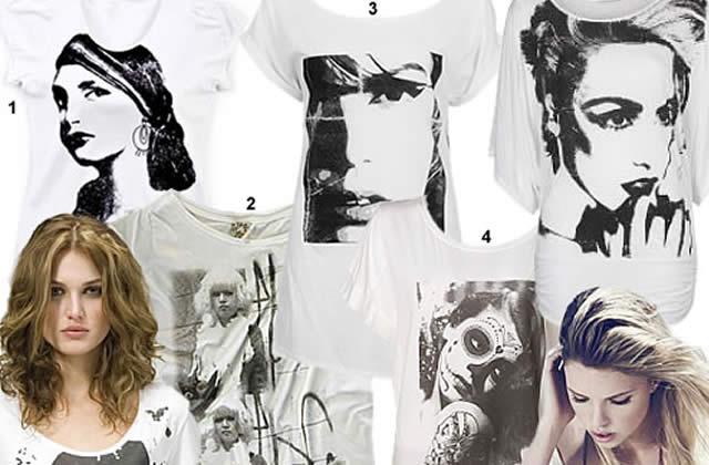 Les t-shirts à visage, minimal ou pictural